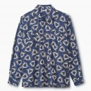 PHIGVEL - DELTA PATTERN OPEN COLLAR L/S SHIRT