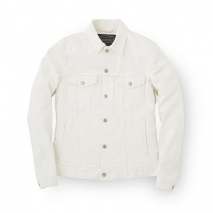 sandinista - B.C. Stretch Denim Jacket White
