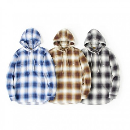 PIG&ROOSTER - DA FLANNEL CHECK HOODIE SHIRT