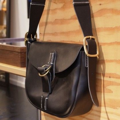 ・The superior labor / hobo bag BLACK S