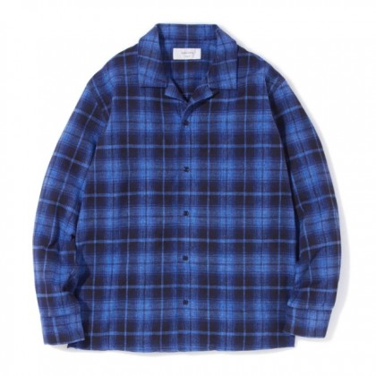 sandinista - Open Collar Check Shirt