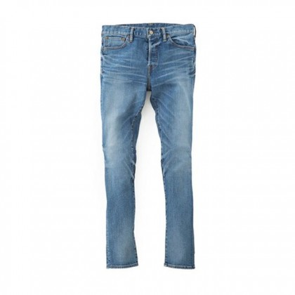 SANDINSTA/B.C. Stretch Damaged Denim Pants-Skinny
